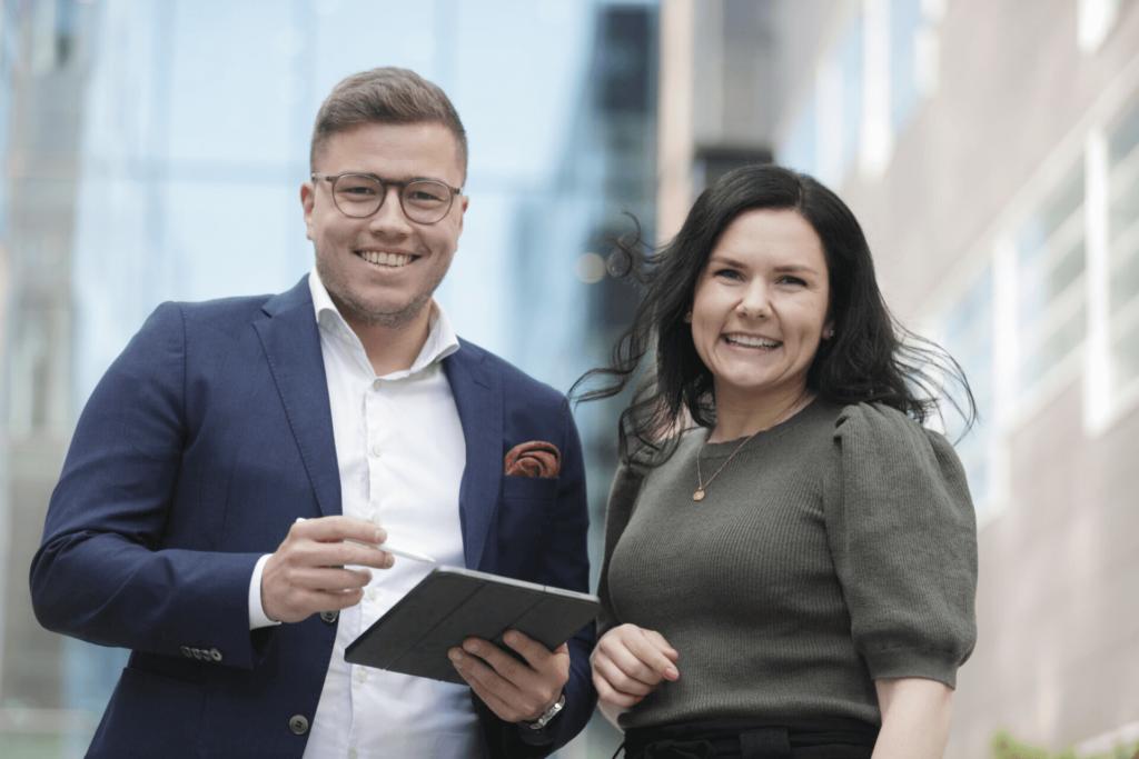 Simen Bjugn Aasan og Inger Munkhaugen